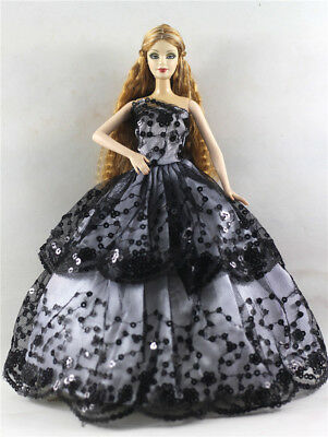 Fashion Princess Party Dress/Evening Clothes/Gown For Barbie Doll p55