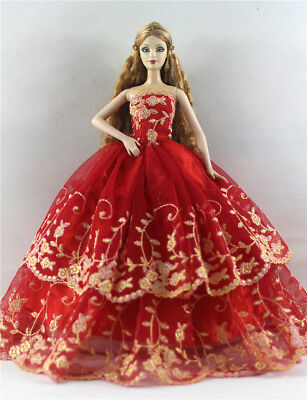 Fashion Princess Party Dress/Evening Clothes/Gown For Barbie Doll p56