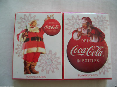 New 2008 Bicycle Santa Coke Coca Cola Christmas Playing Cards 2 Deck Made In Usa
