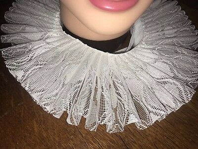 Neck Ruff, Tudor, Medieval, Shakespeare Fancy Dress