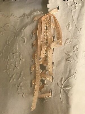 Antique French Chemise Hand Embroidered Hand Sewn, Pure Linen,impeccable superb
