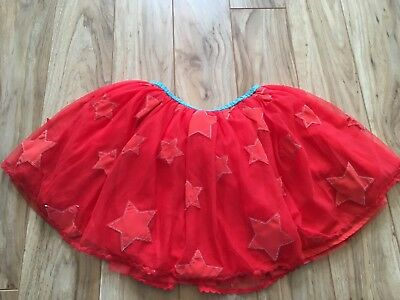 Mini Boden Girls Red Star Tutu Skirt. Size 4-5y. EUC
