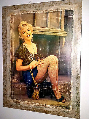Grande Quadro Big Rare Poster Original Marylin Monroe 1974