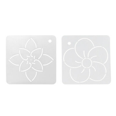 2Pc Square Floral Quilt Stencil Template Patchwork for DIY Sewing Embroidery