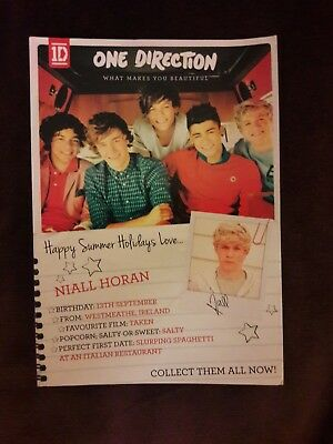 One Direction promotional postcard What Makes you beautiful Niall Horan