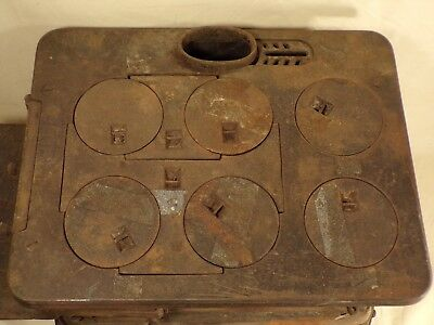 1900 Detroit Stove Works Cast Iron Jewel Jr Range Salesman Sample Burner Base