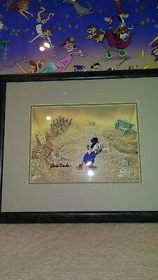 "'SCROOGE McDUCK""  PRODUCTION CEL FROM DUCK TALES SIGNED BY CARL BARKS"