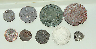 Lot of 9x AE & AR  medieval & post medieval coins D= 9-24mm
