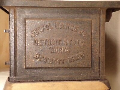 1900 Detroit Stove Works Cast Iron Jewel Jr Range Salesman Sample Body Part