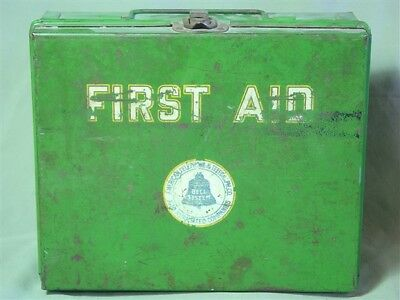 VINTAGE BELL SYSTEM FIRST AID KIT w/ SUPPLIES Instructions Dated 1928