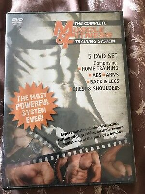 muscle and fitness training system 5 dvd set