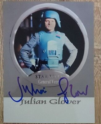 Julian Glover original Autogramm auf Foto, autograph, Star Wars, General Veer