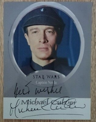 Michael Culver original Autogramm auf Foto, autograph, Star Wars, Captain Needa
