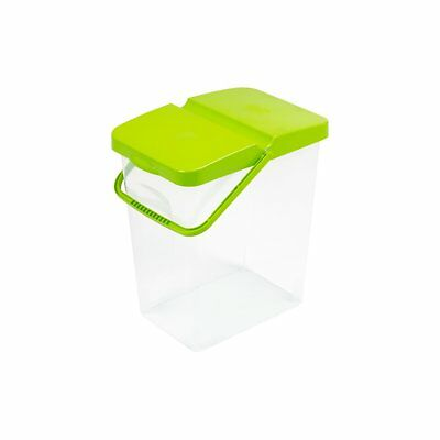 Transparent Storage Box With Lime Lid Pet Food or Washing Powder Comfortable