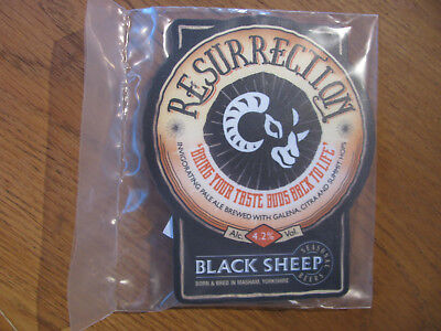 Black Sheep Brewery Beer Pump Clip - Resurrection, Packaged, New.