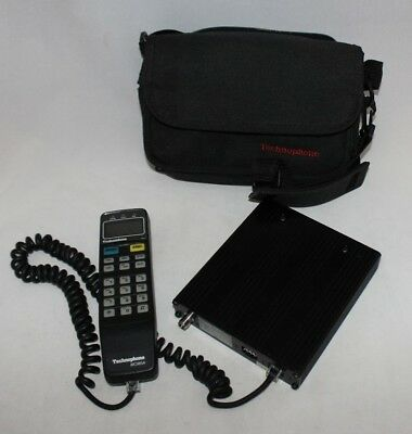 Vintage Technophone MC985A Car Cell Phone w/ Receiver and Case GREAT!