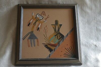 """1 of 3, your choice Vintage Navajo Sand Painting 12"""" x12"""" Native American"""
