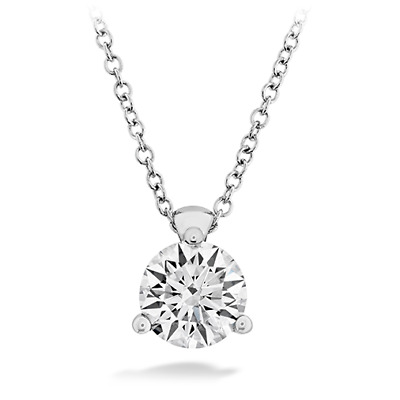 """1Ct Round Brilliant Cut Solid 14k White Gold Over Solitaire Pendant 18"""" Necklace"""