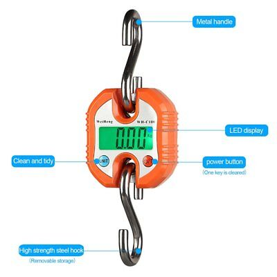 Mini Crane Scale Portable LCD Display Digital Electronic Hook Hanging Weight KG