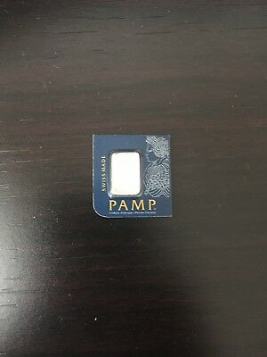 1 gram Platinum Bar -P.A.M.P. 999.5