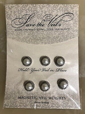 """New """"Save The Veil""""....6 Magnetic Wedding Veil Weights $65"""