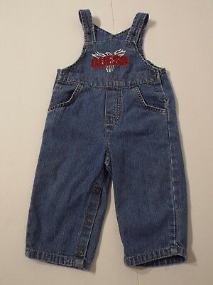 Vintage Guess Boy's Girl's Baby Overalls Denim Jean 3-6m