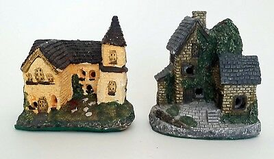 "Vintage JSNY Lighted Houses Country Cottage Church Chapel Buildings 5"" HO? Scale"