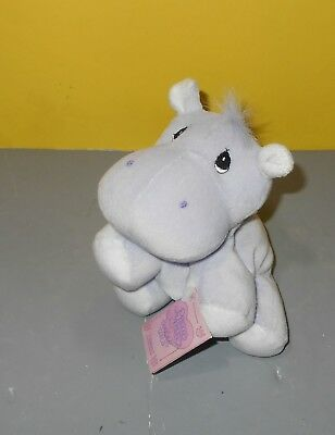 Hippo Lavender Plush Toy hippopotamus Precious Moments Tender Tails By Enesco