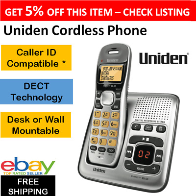 Cordless Home Phone Telephone Set with Digital Answering Machine Handset WiFi