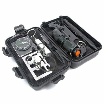 SOS Emergency Survival Equipment Outdoor Tactical Hiking Camping Gear Kit  CU