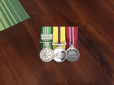 AASM, Iraq medal and ADM, replica court mounted medals