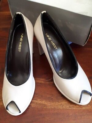 NINE WEST Elegant PUMPS KidSkin LEATHER Modern High HEELS Sz 6 1/2- NEW RRP $149