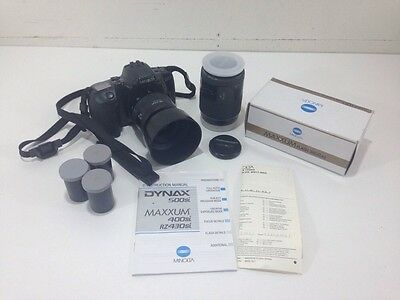 Minolta Dynax 500si 35mm Camera - With Flash, Extra Lens, and Film!