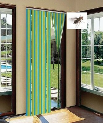PLASTIC DOOR STRIP Curtain Stop Fly Insect Striped Blind Screen 90cm