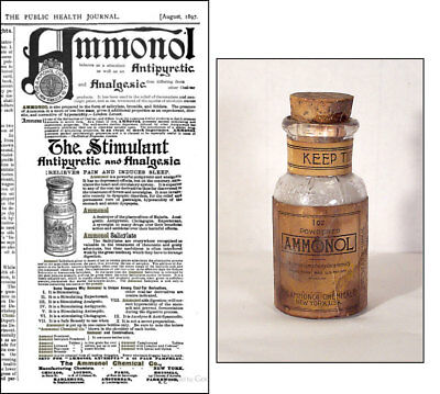 "1895, Antique ""AMMONOL"" . Antipyretic and Analgesic"