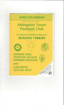 Abingdon Town v Havant Town FA Cup 1988/89 Football Programme
