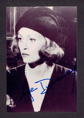 FAYE DUNAWAY Autogramm Autograph signed Photo