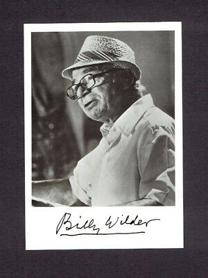 BILLY WILDER Autogramm Autograph signed Card