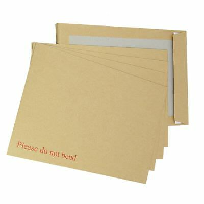 100 Hard Board Backed Envelopes A4 C4 Size 229x324mm Strong Mailers FREE P+P