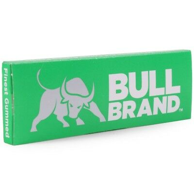 20x Booklets BULL CUT CORNER GREEN ROLLING PAPERS 1000 Leaves Cigarette Roll Up