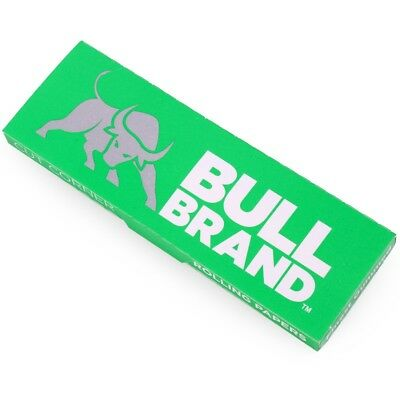 10 x Booklets BULL CUT CORNER GREEN ROLLING PAPERS 500 Leaves Tobacco Cigarette