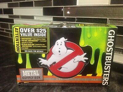 Ghostbusters Metal Supply Box W/2 Keys Stash Your Stuff Journal Hide Out! Nice!!