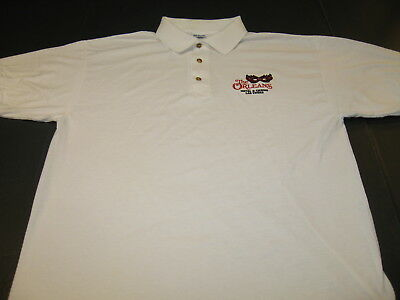 THE ORLEANS Hotel & Casino LAS VEGAS Nevada - Embroidered Golf Polo Shirt New LG