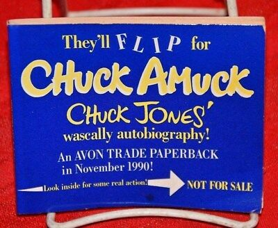 Vintage Flipbook Chuck Amuck Chuck Jones Wascally Autobiography Sample Book