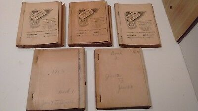 Lot of 5 antique Mader's General Store Nova Scotia sales books 1910 to 1914