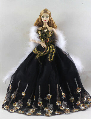 Fashion Princess Party Dress/Evening Clothes/Gown For Barbie Doll p77