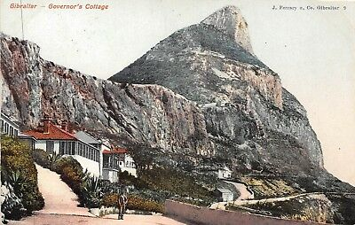 POSTCARD    GIBRALTAR   Governor's  Cottage     ( PAQUEBOT  )