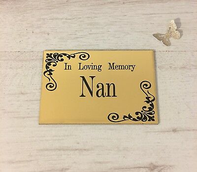 Brass Effect Personalised Memorial Plaque Engraved Plaque Bench Urn Anti Theft