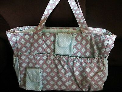Handmade Jumbo Size Diaper Bag/Tote Bag and Clutch NEW (2 pieces)