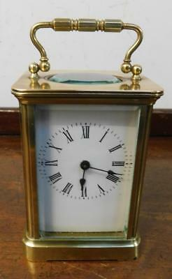 a  brass cased  timepiece carriage clock